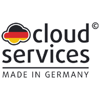 Logo der Initiative cloud services Made in Germany