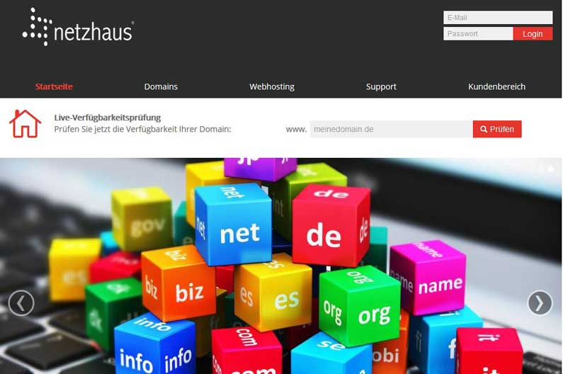Domains und Webhosting ab sofort in unserem neuen Onlineshop bestellen!