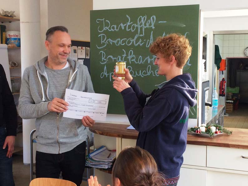 Spende für das Projekt Tageswerkstatt des Notdienst Berlin e.V.