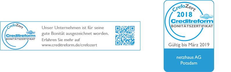 Crefozert – Unsere Bonität wurde zertifiziert!